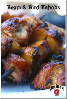 BBQ Bourbon Chicken Kabobs