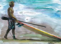 surf paint by Andoni Galdeano