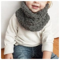 I love kids in scarfs!! - The Carter Cable Crochet Cowl PATTERN (includes Toddler, Child, and Adult sizes)