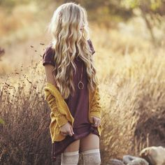 Top 20 fall fashion ideas. Mini dress and mustard cardigan.