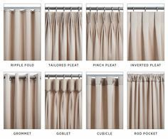 types of curtains and draperies types of curtains and draperies Curtains And Draperies, Types Of Curtains, Pleated Curtains, Home Curtains, Curtains Living, Drapery Panels, Pinch Pleat Curtains, Hanging Curtains, Window Curtains
