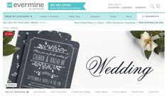 Evermine It's a wedding branding product store. Everything you need to create custom items with a personal touch. What's in the store: – Labels & Stickers – Custom Coasters – Cards and Invites – FREE DIY PRINTABLES! Check out our picks for wedding online shopping websites you probably don't know, but definitely should. Including wedding stationery websites, jewelry, and accessories websites, wedding decoration & party favors, wedding dresses and wedding planning Creative Wedding Invitations, Personalised Wedding Invitations, Personalized Wedding Gifts, Wedding Stationery, Invites, Shopping Websites, Online Shopping, Stationery Websites, Wedding Flower Guide