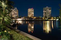 Park Shore at Night.  Naples, Florida