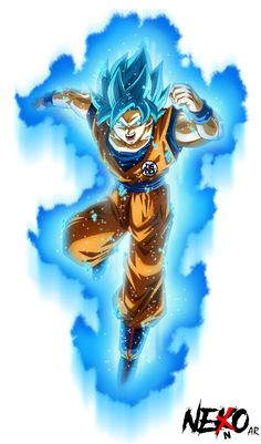 Super Saiyan Blue Goku by NekoAR