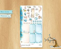 JANUARY 2019 - Watercolor Stickers For Winter Times, Perfectly Fitting Personal Sized Planners : Hemiboxes and Chores Watercolor Stickers, Ring Binder, Winter Time, Planners, January, Notebook, Times, Unique Jewelry, Handmade Gifts