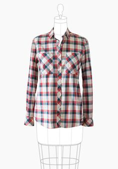 Archer Button Up Shirt – Grainline Studio.  Love this top!