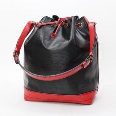 Louis Vuitton Noe Bi-Color Epi Shoulder bags Black Leather M44017