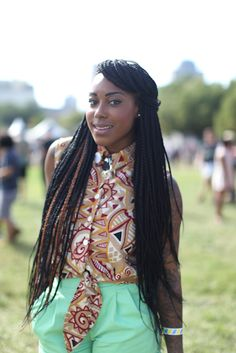 Donica White shows off her style at the AfroPunk Festival in Brooklyn. Eclectic Coifs