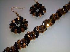 Комплект: серьги и браслет. МК. DIY. Tutorial: a set of jewelry - YouTube