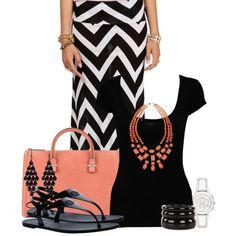 Maxi Skirt by modelmaterialgirl22, via Polyvore