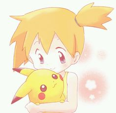 Misty and Pikachu! <3 So CUTE!!! ^3^