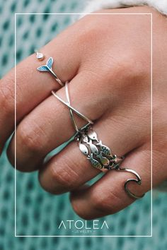 Be connected with the ocean with these minimalist boho rings. Wear these everyday, in and out of the sea.