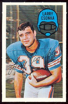 For sale 1970 kelloggs cereal football cards 41 larry csonka miami dolphins nfl hall of fame emorys memories. Football Trading Cards, Football Cards, Football Team, Baseball Cards, Alabama Football, American Football League, National Football League, Miami Dolphins Logo, Football Conference