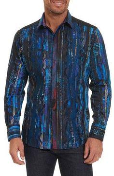 Robert Graham Mens Wallner Long Sleeve Classic Fit Shirt