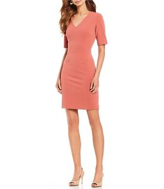 9293ea8a13 Antonio Melani Slim Elbow Sleeve Sheath Dress Antonio Melani