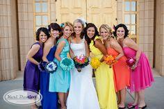 Rainbow Bridesmaids!