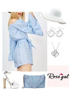 """rosegal 2"" by natalyag ❤ liked on Polyvore featuring Giuseppe Zanotti, Elena Ghisellini, Eric Javits, Amanda Rose Collection and Avenue"