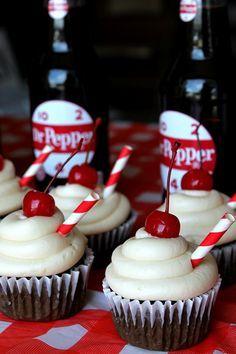 Cupcake Recipes, Cupcake Cakes, Dessert Recipes, Cupcake Ideas, Just Desserts, Delicious Desserts, Yummy Food, Dr Pepper Cupcakes, Dr Pepper Cake