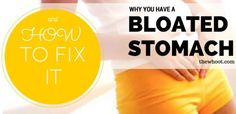 Bloated Stomach Symptoms And How To Fix It