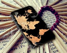 World Map on Wood Texture Case for iPhone 4/4s iPhone by biasawae, $14.99