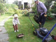 Keeping the grass cut for grandma! From Linda B