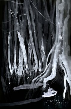 Entries for the Folio Society's illustration competition - the book these illustrations are for is Heart Of Darkness by Joseph Conrad.