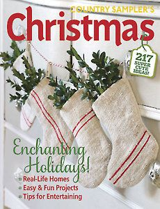 Country Sampler, Christmas 2015, Magazine Covers, Fun Projects, Christmas Stockings, Magazines, Garland, Whimsical, Presents