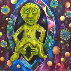 SHEELA-NA-GIG - An Invitation To Enter The Feminine. Sheila-Na-Gigs are images of figures pulling open their vulvas which have been found on religious buildings particularly in Ireland and the UK but also in other parts of Europe. Art by Kitty Star. Art Fertility, Fine Art Prints, Canvas Prints, Goddess Art, Images And Words, Star Art, Female Bodies, Giclee Print, Goddesses