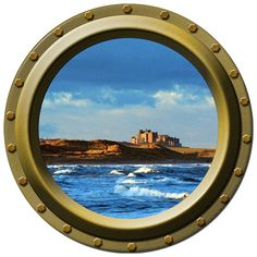 Castle By the Sea Porthole Vinyl Wall Decal by WilsonGraphics, $13.00