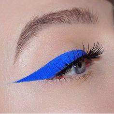 Bright blue winged eye