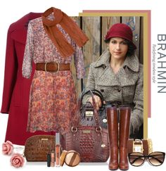 """""""How do you wear your Brahmin? With flowers and romance in my heart."""" by traceygraves ❤ liked on Polyvore"""