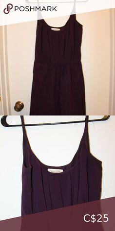 Eggplant purple pleated front mini dress Flowy eggplant-coloured twist strap mini dress with pleated detail at bust. Eggplant Purple, Plus Fashion, Fashion Tips, Fashion Trends, Basic Tank Top, Camisole Top, Detail, Mini, Closet