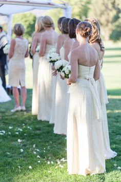 Ivory bridesmaid - rustic theme - white bouquets Ojai Valley Wedding Leila Brewster Photography