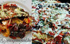 Paradicsomos rakott padlizsán csirkével recept fotóval Vegetable Pizza, Lasagna, Quiche, Feta, Vegetables, Breakfast, Ethnic Recipes, Morning Coffee, Quiches