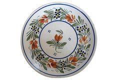 Quimper  French Faience  Plate on OneKingsLane.com