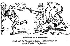 Newspaper Joke about Ivan Aguéli Who in 1900 shot against two Matadors in Deuil.It led to the stop for bullfighting in France. (Pharyah)