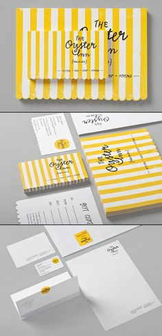 The Oyster Inn | #stationary #corporate #design #corporatedesign #identity #branding #marketing < repinned by www.BlickeDeeler.de | Take a look at www.LogoGestaltung-Hamburg.de