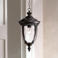 "Bellagio™ 18"" High Black Outdoor Hanging Light"
