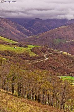 Colorful valley. Vega de Pas, Spain.