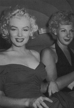 """Marilyn Monroe on her way to the premiere of """"Monkey Business"""" Premier 1952"""
