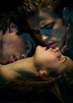Vampire stories = obsession. Vampire Diaries has by far the hottest vampires.