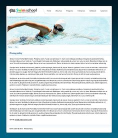 Swim Sport Website Templates by Mercury