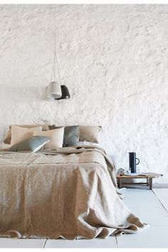 Buy Linen Things Online   PURE LINEN Products U0026 Fabrics CASABLANCA Bedcover    NEW