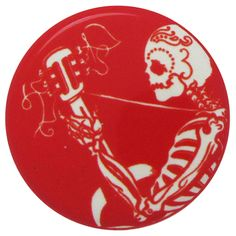 Button-O-Matic Series 13: James Flames' jazzy glowing skeleton
