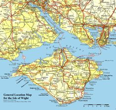 Isle of Wight Map - Isle of Wight United Kingdom Newport, Portsmouth England, Ile De Wight, Isle Of Wight Festival, Republic Of Ireland, Location Map, British Isles, Kew Gardens, Great Britain