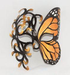 Zamaskowana: Orange butterfly...maska na twarz