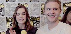 Elizabeth Henstridge, Iain De Caestecker || Comic Con 2014 || 245px x 120px || #animated #cast #fitzsimmons