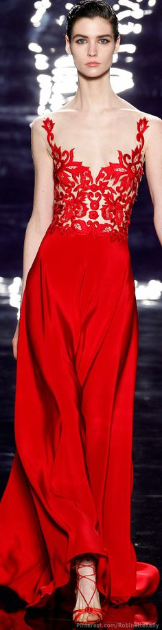 Reem Acra | F/W 2014 just need to be a bit more voluptuous to really pull it off
