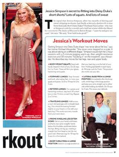 Better description -Jessica Goes Daisy: Her Wow Workout - Diet & Fitness, The Dukes of Hazzard (DVD - 2004), Jessica Simpson : People.com