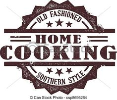 EPS Vector of Home Cooking Stamp - A vintage style southern home ...